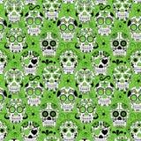 Giorno di Sugar Skull Seamless Vector Background morto Immagini Stock Libere da Diritti