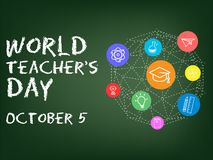 Giorno di Teachers' del mondo illustrazione vettoriale