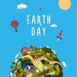 Giorno di terra Concetto di ecologia e dell'ambiente Immagini Stock Libere da Diritti