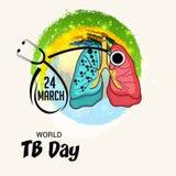 Giorno di tubercolosi di mondo Immagini Stock