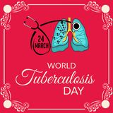 Giorno di tubercolosi di mondo Fotografia Stock Libera da Diritti