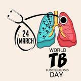 Giorno di tubercolosi di mondo Immagine Stock Libera da Diritti