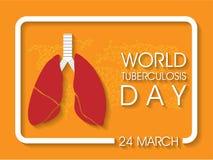 Giorno di tubercolosi di mondo illustrazione di stock