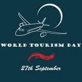 Giorno di turismo di mondo dell'illustrazione di vettore Immagine Stock Libera da Diritti