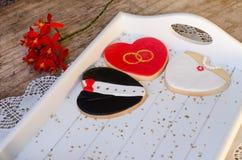 Giorno di Valentin - biscotti di nozze Fotografia Stock