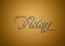 Giorno di venerdì dei precedenti di titolo dell'oro di settimana fotografia stock
