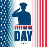 Giorno di veterani Festa patriottica tradizionale americana illustrazione vettoriale