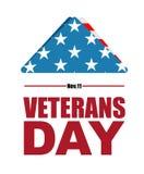 Giorno di veterani Simbolo della bandiera di U.S.A. di dolore e del dolore per la s caduta Fotografie Stock Libere da Diritti