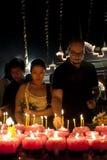 Giorno di Wesak al tempiale buddista di Maha Vihara Fotografia Stock