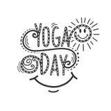 Giorno di yoga Immagine Stock