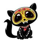 Giorno (Dia de los Muertos) del gattino morto di stile Fotografia Stock Libera da Diritti
