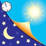 Giorno e notte royalty illustrazione gratis