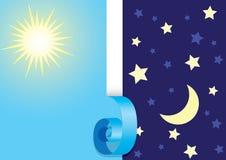 Giorno e notte illustrazione di stock