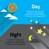 Giorno e notte Immagini Stock Libere da Diritti