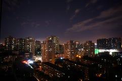 Giorno e notte, Pechino Fotografia Stock