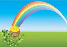 Giorno e Rainbow di Patricks del san Fotografia Stock Libera da Diritti
