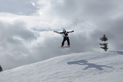 Giorno epico ogni giorno: Beaver Creek di snowboard, località di soggiorno di Vail, Eagle County, Avon, CO Fotografia Stock Libera da Diritti