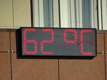 Giorno estremamente caldo Fotografia Stock