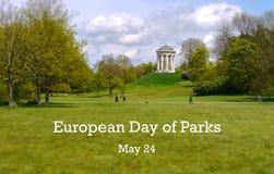 Giorno europeo dell'illustrazione dei parchi immagini stock