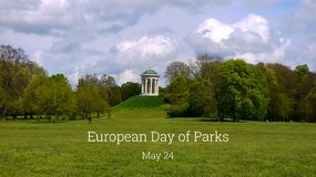 Giorno europeo dell'illustrazione dei parchi fotografia stock