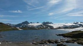 Giorno fantastico sul sognefjellet norwigian della montagna fotografia stock libera da diritti