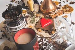Giorno fatto fresco del ` s del biglietto di S. Valentino del caffè Immagine Stock