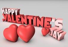 Giorno felice 3D dei biglietti di S. Valentino Fotografie Stock