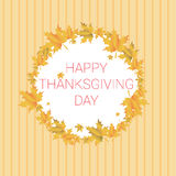 Giorno felice Autumn Traditional Holiday Banner di ringraziamento illustrazione di stock