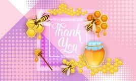Giorno felice Autumn Traditional Holiday Greeting Card di ringraziamento Immagini Stock Libere da Diritti