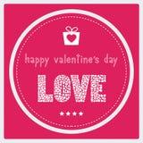 Giorno felice card1 del biglietto di S. Valentino s Fotografia Stock Libera da Diritti