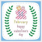 Giorno felice card5 del biglietto di S. Valentino s Immagine Stock Libera da Diritti