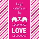 Giorno felice card2 del biglietto di S. Valentino s Immagini Stock