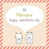Giorno felice card9 del biglietto di S. Valentino s Fotografia Stock