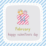 Giorno felice card7 del biglietto di S. Valentino s Fotografia Stock Libera da Diritti