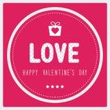 Giorno felice card3 del biglietto di S. Valentino s Immagini Stock