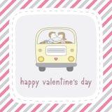 Giorno felice card11 del biglietto di S. Valentino s Fotografia Stock Libera da Diritti