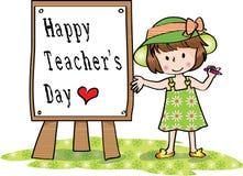 Giorno felice degli insegnanti Immagine Stock