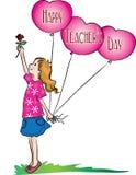 Giorno felice degli insegnanti Fotografie Stock Libere da Diritti