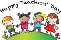 Giorno felice degli insegnanti royalty illustrazione gratis