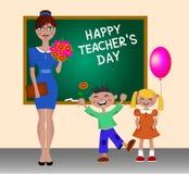 Giorno felice degli insegnanti Immagini Stock