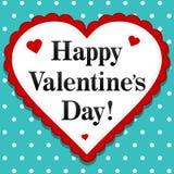 Giorno felice dei biglietti di S. Valentino illustrazione di stock