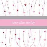 Giorno felice dei biglietti di S. Valentino Fotografie Stock Libere da Diritti