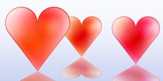 Giorno felice dei biglietti di S. Valentino Immagini Stock