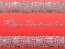 Giorno felice dei biglietti di S. Valentino Immagini Stock Libere da Diritti