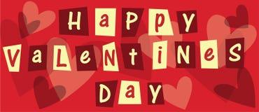 Giorno felice dei biglietti di S. Valentino Fotografia Stock