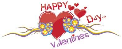Giorno felice dei biglietti di S. Valentino Immagine Stock