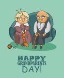 Giorno felice dei nonni Fotografie Stock Libere da Diritti