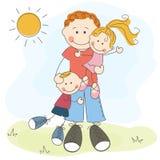 Giorno felice del padre s illustrazione di stock