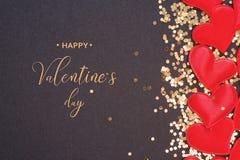 Giorno felice del `s del biglietto di S valentine Amore immagine stock