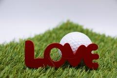 Giorno felice del ` s del biglietto di S. Valentino al giocatore di golf Immagini Stock Libere da Diritti